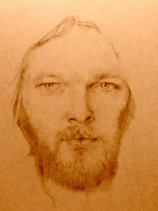 David Gilmour pyrography