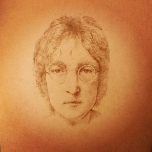 John Lennon Pyrography سوخت نگاری روی چوب